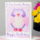 Personalised Owl Relations Birthday Card