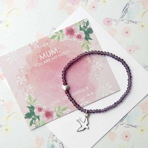 Personalised Amethyst Friendship Bracelet