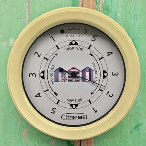 Personalised Beach Huts Tide Clock - clocks