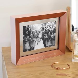 Personalised Copper And Pink Photo Frame - picture frames