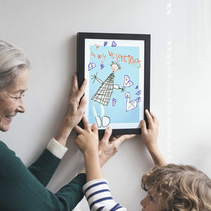 Personalised Portrait Print From Your Child's Drawing - for grandfathers