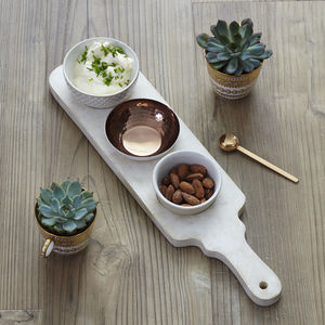 Paddle And Bowls Serving Set