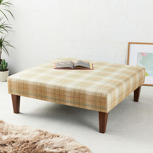 Armitage Square Coffee Table Stool - footstools & pouffes