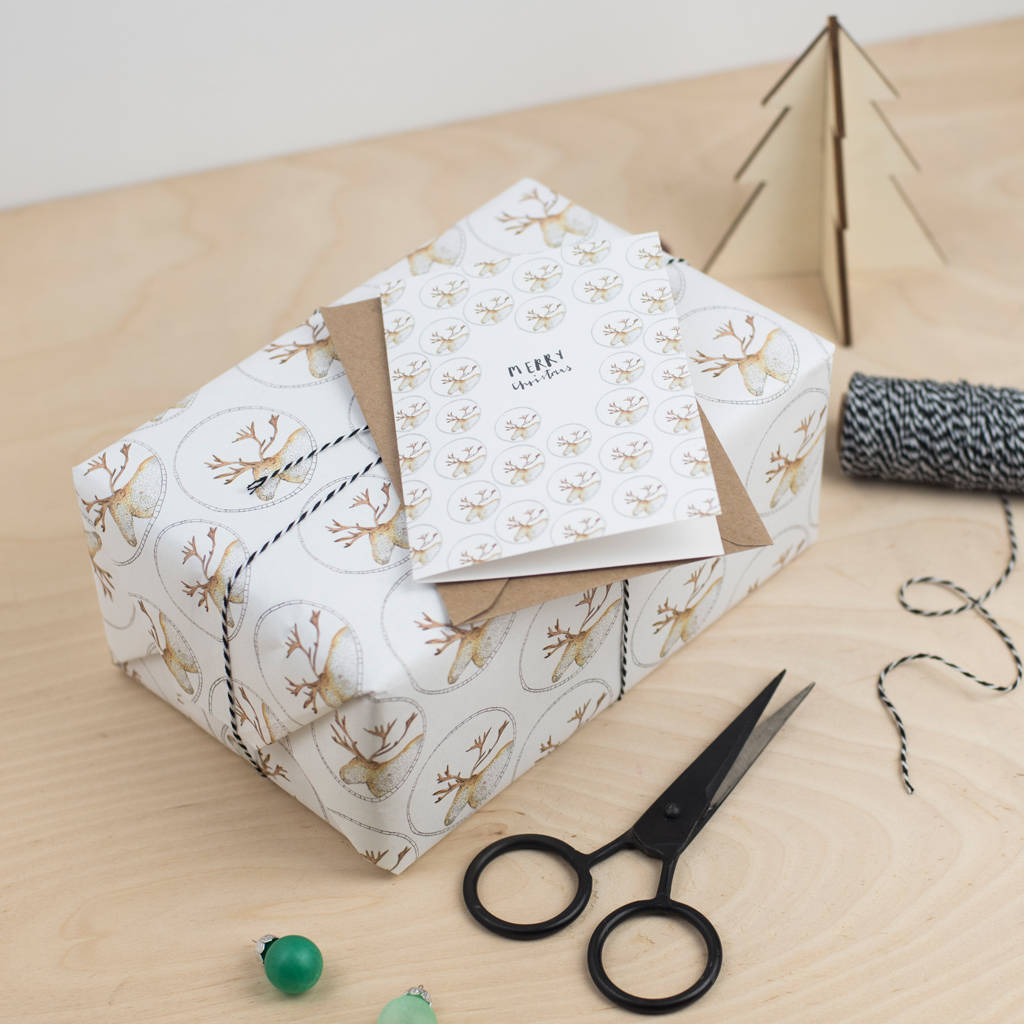 luxury moose christmas gift wrap by plewsy ...