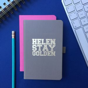 Personalised 'Stay Golden' Notebook