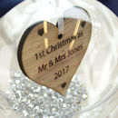 Personalised First Christmas As Mr And Mrs Bauble