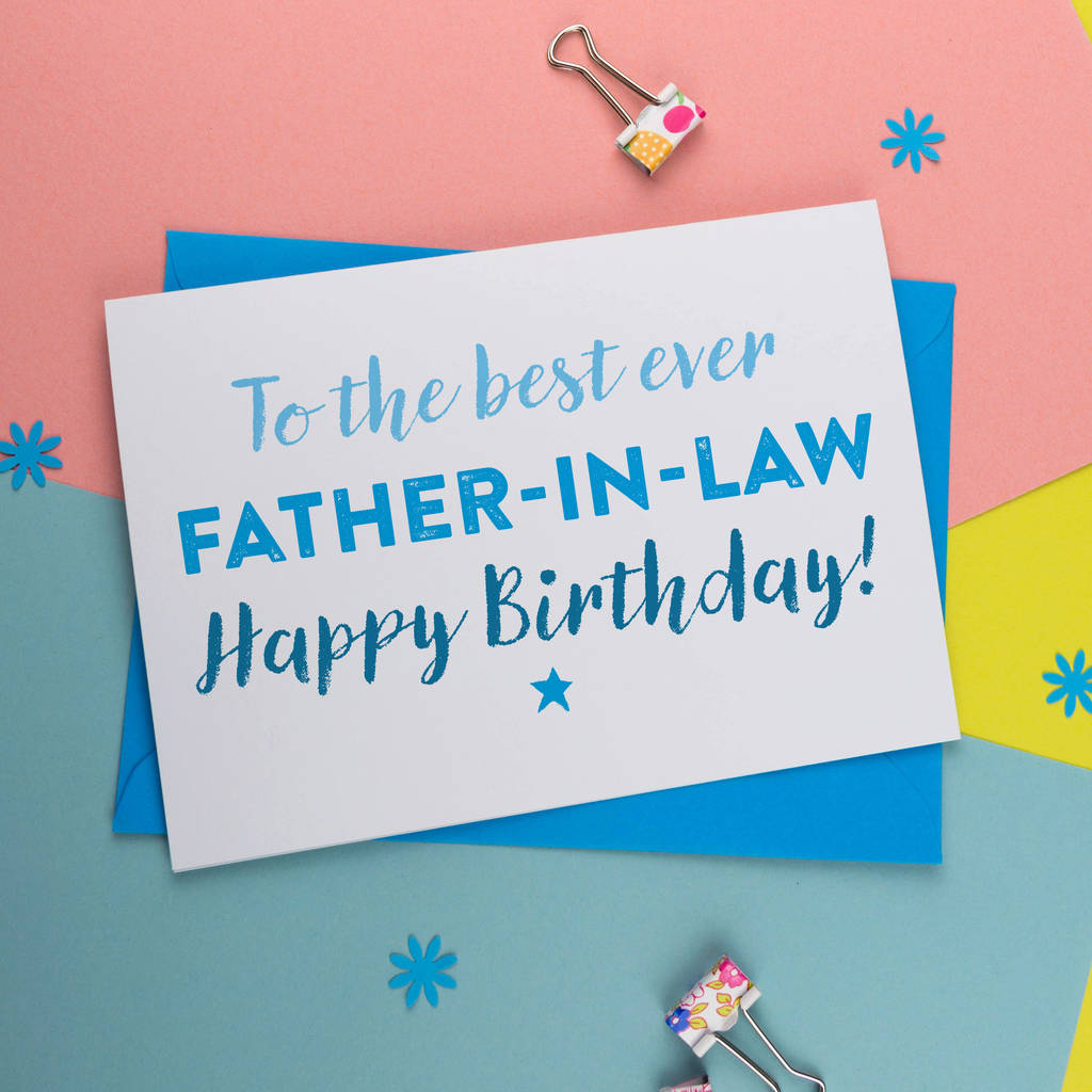 Birthday Card For Father In Law By A Is Alphabet