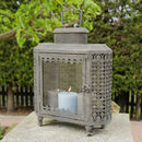 Personalised Large Clouded Grey Candle Lantern