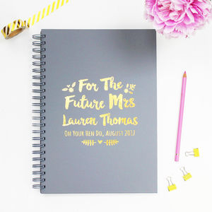 Personalised 'Future Mrs' Bride To Be Book - winter sale