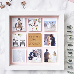 Personalised Framed Wedding Photo Print - family & home