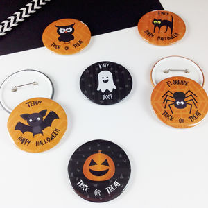 Personalised Halloween Badge