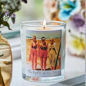 Personalised Retro Style Photo Candle