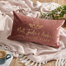 Personalised New Home Velvet Cushion