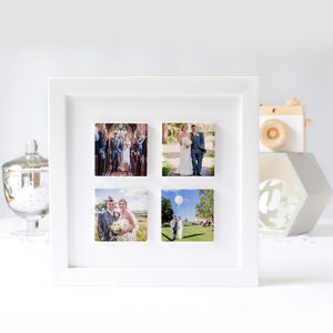 Personalised 'Our Wedding' Framed Photo Clay Tile Frame - personalised