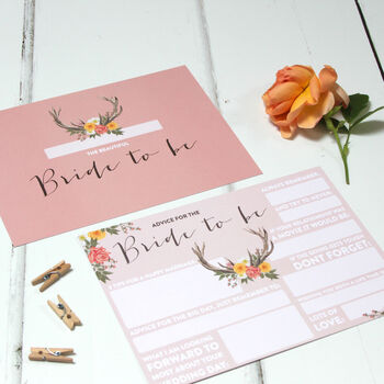 Bride Advice Cards: Boho
