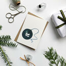 Hand Illustrated Peace Dove Bauble Christmas Card