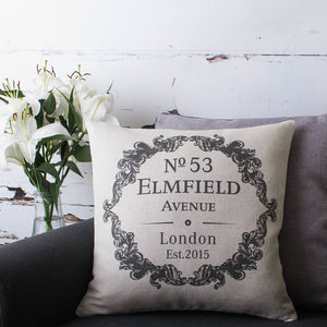 Personalised New Home Cushion Cover - cushions