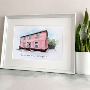 Personalised House Portrait Hand Illustrated - best for birthdays