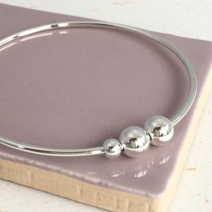 21st Birthday Handmade Silver Bangle - bracelets & bangles