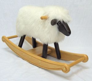 Ivory Fleece Rocking Lamb - 1st birthday gifts