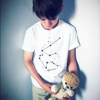 'Star Sign' Kids Short Sleeve Tshirt