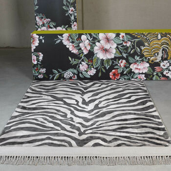 Bold Monkey Zebra Friendly Rug 200 X 300cm