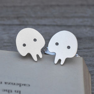 Skull Cufflinks In Sterling Silver - cufflinks