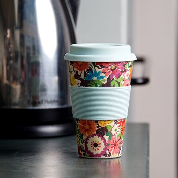 Flower Patch Bamboo Fibre Coffee Cup
