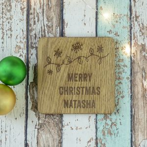 Merry Christmas Personalised Engraved Coaster - view all new