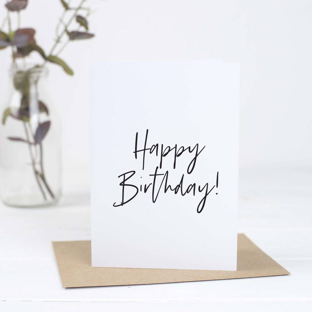 Simple Happy Birthday Card By Russet And Gray