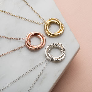 Personalised Russian Ring Necklace - bridesmaid gifts