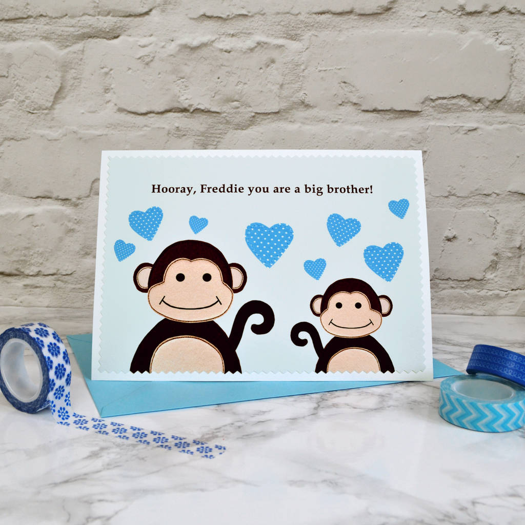 'new big brother' personalised baby card by jenny arnott ...