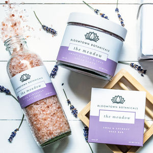 Wrapped Bath Trio Gift Set For Her - organic skincare