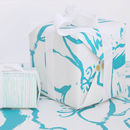 Double sided screen printed wrapping paper