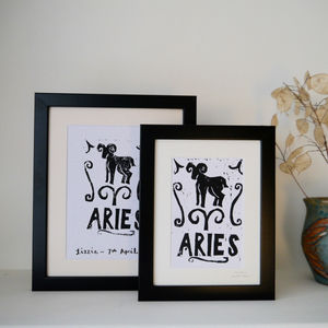 Aries Star Sign Personalised Print - pictures & prints for children