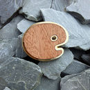 Wooden And Gold Palette Pin Badge