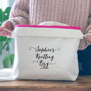 Personalised Drawstring Knitters Gift Bag