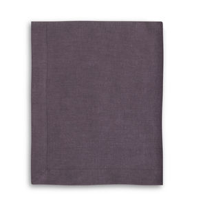 Aubergine Linen Tablecloth With Mitered Hem