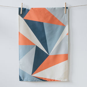 Coral Angles Organic Cotton Tea Towel