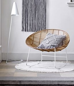 Bamboo And Metal Framed Chair - scandi home decor