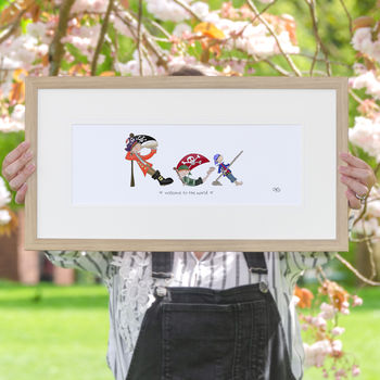 Personalised 'Pirate Name' Children's Print