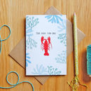The One For Me Lobster Card