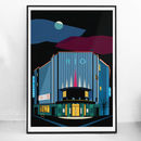 Art Deco London The Rio Cinema Illustrated Poster