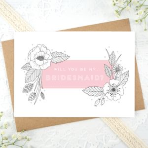 Bridesmaid Card - what's new