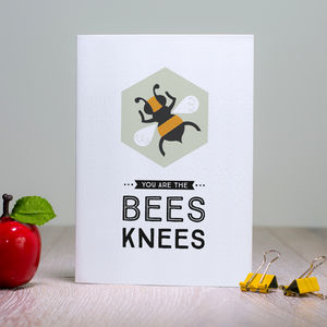 Items similar to You're the Bee's Knees Valentine Card ...  |The Bees Knees Valentine