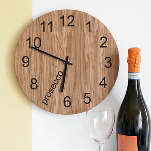 Prosecco O'clock Clock - living room