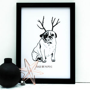 Bar Hum Pug Copper Print