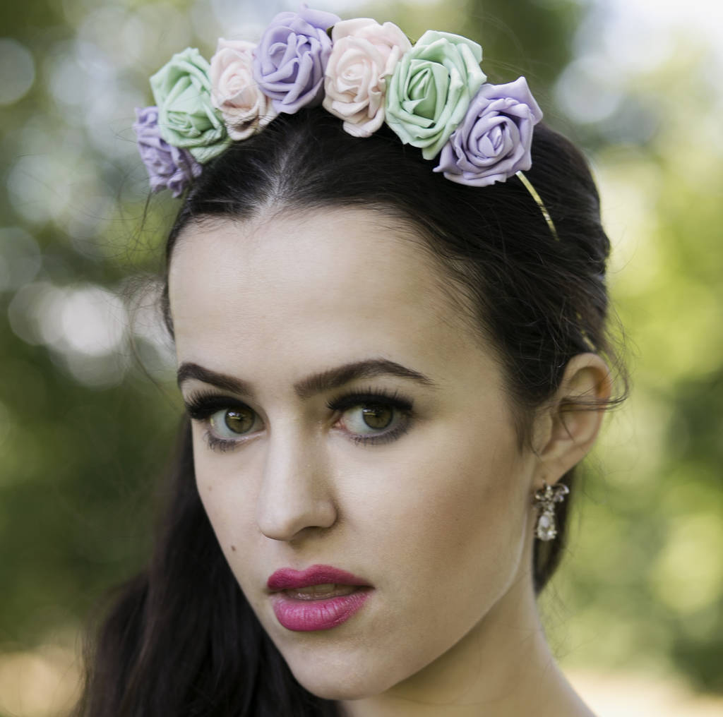Rose flower crown spring summer colours by stephanieverafter rose flower crown spring summer colours izmirmasajfo