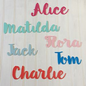 Personalised Acrylic Name Sign In Choice Of Colours