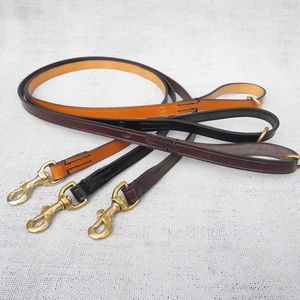 Personalised Steadfast Leather Dog Clip Lead - dog leads & harnesses